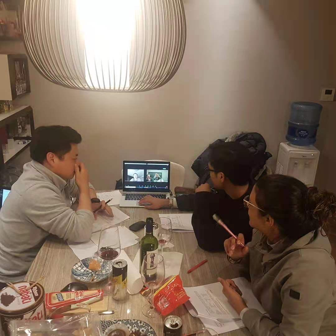 Study Group During Module 3 in January 2021